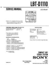 Buy Sony LBT-D1110 Service Manual by download Mauritron #241749