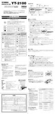 Buy Yamaha YT2100 FR Operating Guide by download Mauritron #250455