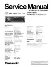 Buy Panasonic sm00cqc3433u Service Manual by download Mauritron #268900