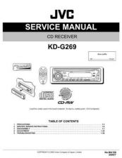Buy JVC KD-G269 Service Manual Schematic Circuit. by download Mauritron #271319