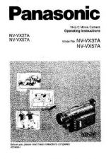 Buy Panasonic NVVX37A VX57A Operating Instruction Book by download Mauritron #2363