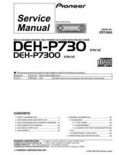 Buy Pioneer DEH-P7300 Technical Manual by download Mauritron #232509