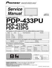 Buy Pioneer PDP-433MXE (3) Service Manual by download Mauritron #234908