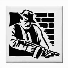 Buy Ceramic Tile Gangster Crime Boss Mafia Man Art