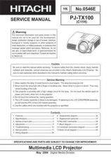 Buy Hitachi PJ-LC7_DE Service Manual by download Mauritron #263746