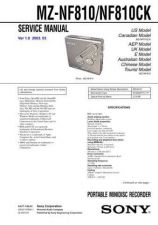 Buy Sony MZ-NF610 service manual Technical Manual. by download Mauritron #243151