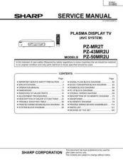 Buy Sharp PZ43 50MR2U Service Manual by download Mauritron #209144
