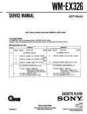 Buy Sony WM-EX326 Manual by download Mauritron #229931