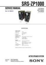 Buy Sony SRS-ZP1000 Service Manual by download Mauritron #233168