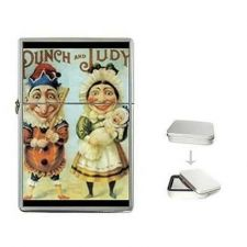 Buy Punch And Judy Art Cigarette Flip Top Lighter