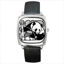Buy Panda Bear China Chinese Square Wrist Watch