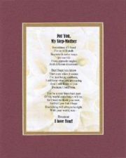 Buy Heartfelt Poem For Mothers - For My Step Mom on 11x14 Double Beveled Matting