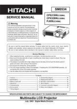 Buy Hitachi PJTX10AU Service Manual by download Mauritron #263787