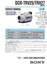 Buy Sony DCR-TRV7TRV7E Service Manual by download Mauritron #239909
