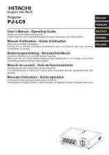 Buy Hitachi PJ-LC7 FI Manual by download Mauritron #225418
