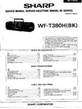 Buy Sharp. WFT380H_SM_GB-DE-FR Service Manual by download Mauritron #211760