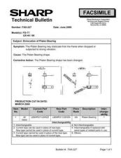 Buy SHARP FAX219 TECHNICAL BULLETIN by download #104387