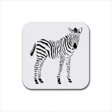 Buy Zebra Art Set Of 4 Square Rubber Drink Coasters