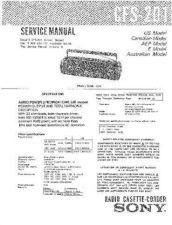 Buy Sony CFS-201 Service Information by download Mauritron #237669