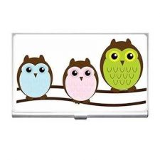 Buy Owl Family Art Business Credit Card Holder