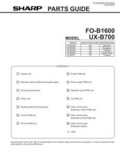 Buy Sharp UXB-700 Technical Information by download Mauritron #233043