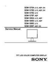 Buy Sony SDM-S75E Service Manual by download Mauritron #232364
