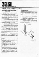 Buy ROTEL RCD855 Manual by download Mauritron #230389