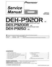 Buy Pioneer DEH-P9200R-4 Service Manual by download Mauritron #233822