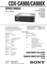 Buy Sony CDX-CA900-CA900X Service Manual by download Mauritron #238564