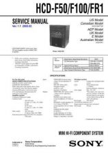 Buy Sony HCD-F150-FR10 Service Manual by download Mauritron #240990