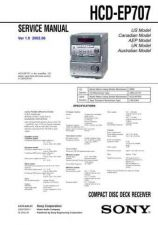Buy Sony HCD-EP707.. Technical Information by download Mauritron #235682