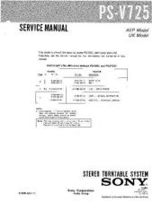 Buy Sony PS-V725 Service Manual by download Mauritron #232289