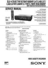 Buy Sony SLV-478-677HF-678HF-688HF-L47-L48-L57 Technical Manual. by download Maurit