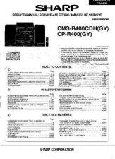 Buy Sharp CMSR400CDH-CPR400 -DE-FR Service Manual by download Mauritron #208730