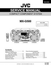 Buy JVC MX-G500 SERVICE MANUAL by download Mauritron #220490