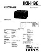 Buy Sony HCD-H170 Service Manual by download Mauritron #241100