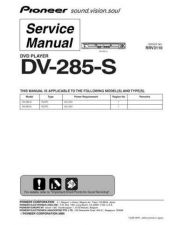 Buy Pioneer DV-258-S Service Manual by download Mauritron #234007