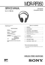 Buy Sony MDR-RF950 Service Manual. by download Mauritron #242620