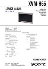 Buy Sony XVM-H65 Service Manual. by download Mauritron #246483