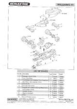 Buy Scalextrix No.341 Williams F1 Service Sheets by download Mauritron #206446