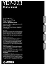 Buy Yamaha YDP223E Operating Guide by download Mauritron #250314