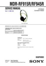 Buy Sony MDR-RF975RK Service Information by download Mauritron #237931