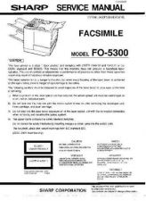 Buy Sharp FO5300 Service Manual by download Mauritron #208869