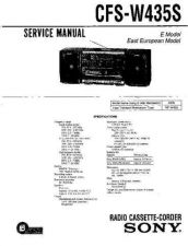 Buy Sony CFS-W435S Service Manual by download Mauritron #239011