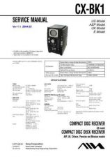 Buy Sony CX-BK1 Service Manual by download Mauritron #239351
