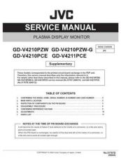 Buy JVC GD-V4210PCE GD-V4211PCE Service Manual Schematic Circuit. by download Mauritron #