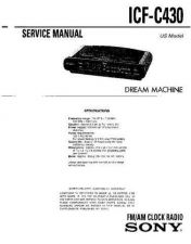 Buy Sony ICF-C430 Service Manual. by download Mauritron #241553