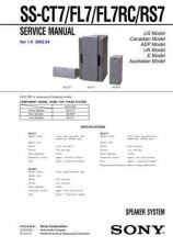Buy Sony SS-CT44TSB3 Service Manual. by download Mauritron #244734