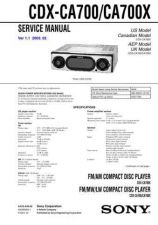 Buy Sony CDX-CA705M Service Manual by download Mauritron #238551