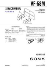 Buy Sony VF-58M Service Manual by download Mauritron #241919